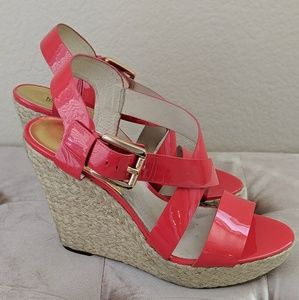 Michael Kors Fire Red Giovanna Wedge